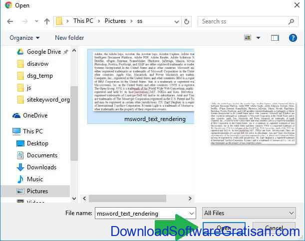 Cara Copy atau Convert Teks dari Gambar Online OCR Step 2