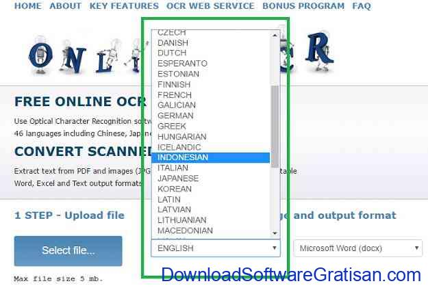 Cara Copy atau Convert Teks dari Gambar Online OCR Step 3