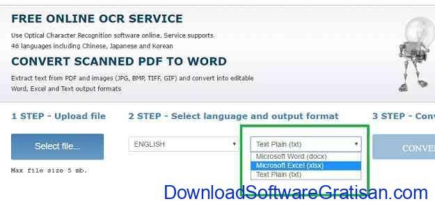 Cara Copy atau Convert Teks dari Gambar Online OCR Step 4