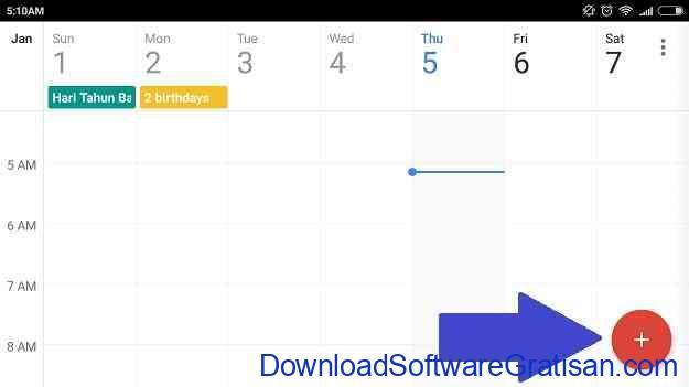 Cara Menetapkan Tujuan Pada Google Calendar Step 1