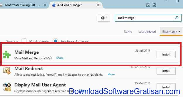Cara Mengirim Email ke Banyak Orang Sekaligus Addon Menu
