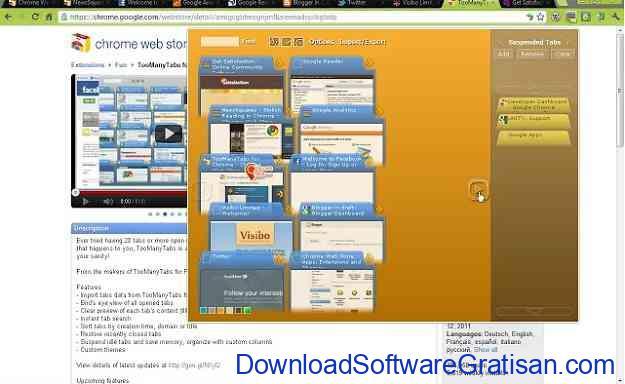 Plugin Chrome untuk Mengelola Tab TooManyTabs