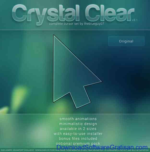 Tema Kursor Mouse Gratis Terbaik untuk Windows Crystal Clear