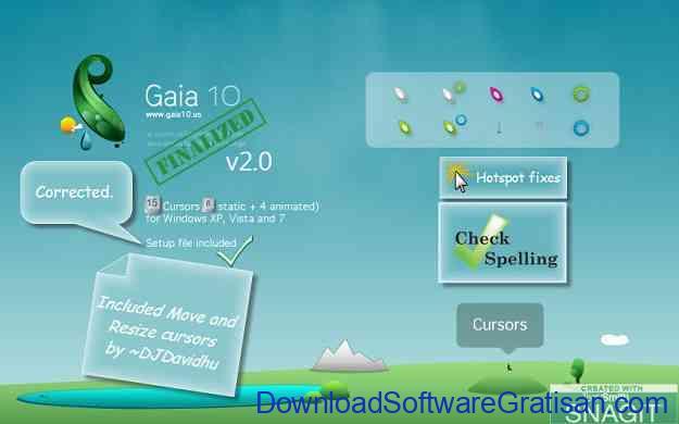 Tema Kursor Mouse Gratis Terbaik untuk Windows Gaia 10