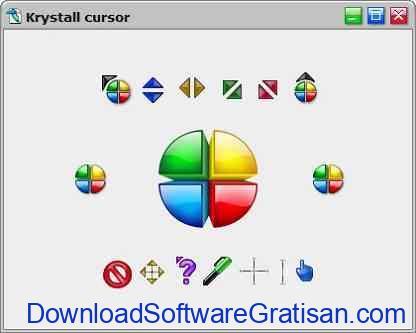 Tema Kursor Mouse Gratis Terbaik untuk Windows Krystall