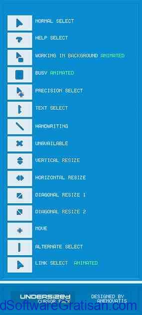 Tema Kursor Mouse Gratis Terbaik untuk Windows UNDERSized
