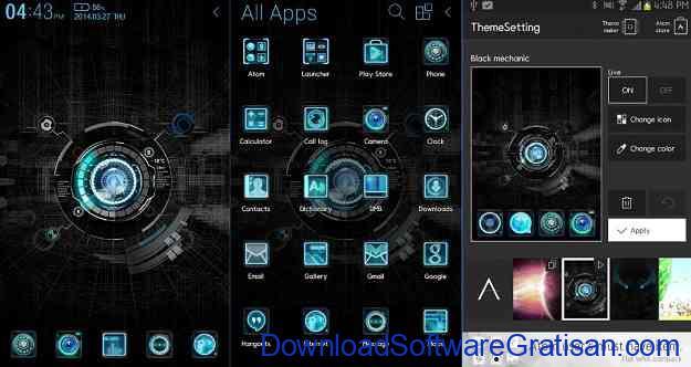 Theme atau Tema Android Gratis Terbaik by DLTO