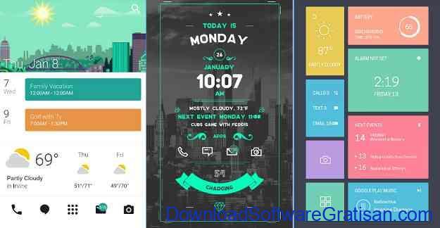 Theme atau Tema Android Gratis Zooper Widget