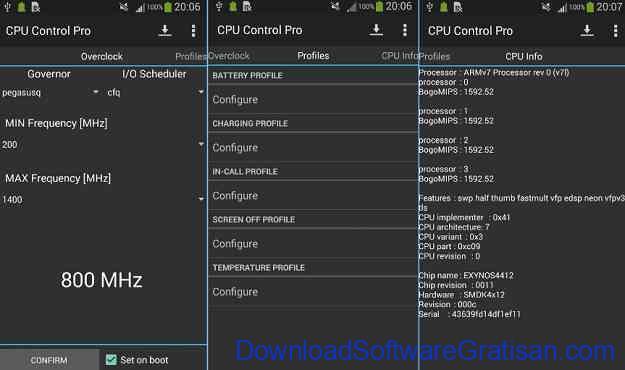 Aplikasi Overclock CPU Android Terbaik CPU Control