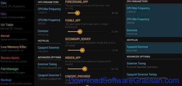 Aplikasi Overclock CPU Android Terbaik Kernel Tweaker
