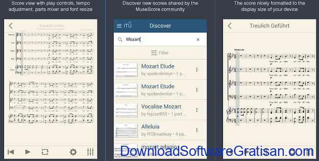 Aplikasi untuk belajar membaca musik Android MuseScore