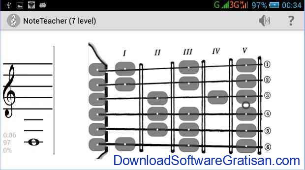 Aplikasi untuk belajar membaca musik Android Music NoteTeacher