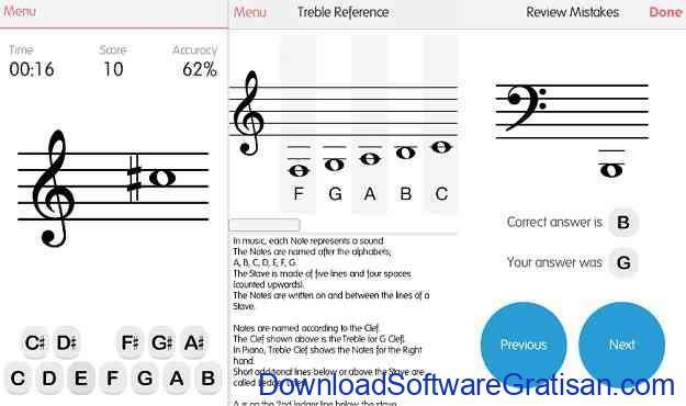 Aplikasi untuk belajar membaca musik Android Music Tutor