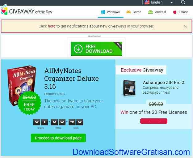 Situs software giveaway Terbaik Giveaway of the Day