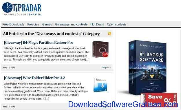 Situs software giveaway Terbaik TipRadar