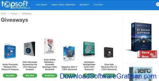 Situs software giveaway Terbaik TopSoftBargains