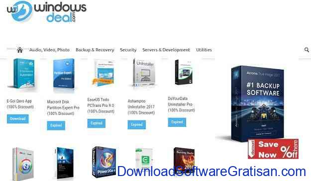 Situs software giveaway Terbaik Windows Deal