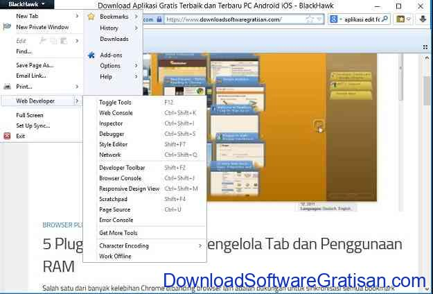Web Browser Alternatif Gratis Terbaik untuk Windows BlackHawk
