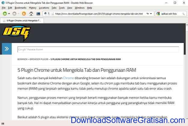 Web Browser Alternatif Gratis Terbaik untuk Windows Dooble Browser