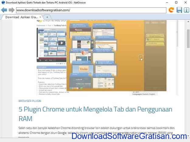 Web Browser Alternatif Gratis Terbaik untuk Windows NetGroove Browser