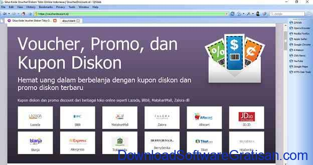 Web Browser Alternatif Gratis Terbaik untuk Windows QT Web Browser