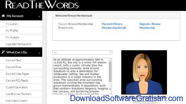 aplikasi pengubah teks menjadi suara untuk pc read the words