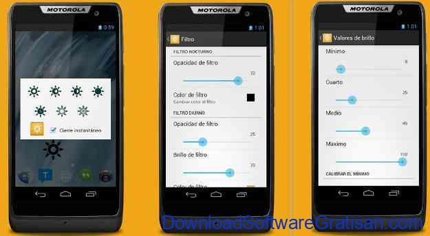 Aplikasi Pengatur Warna Layar Gratis Terbaik untuk Android Configurable brightness preset