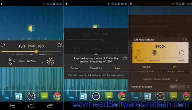 Aplikasi Pengatur Warna Layar Gratis Terbaik untuk Android Lux Lite