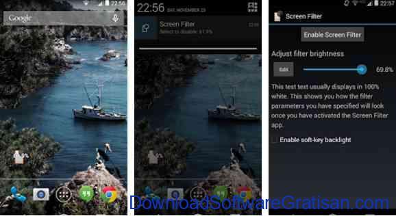 Aplikasi Pengatur Warna Layar Gratis Terbaik untuk Android Screen Filter