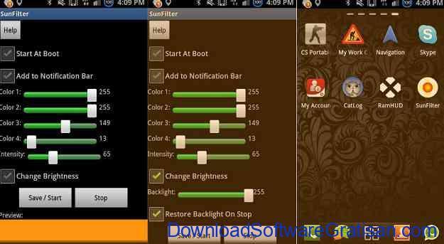 Aplikasi Pengatur Warna Layar Gratis Terbaik untuk Android SunFilter - Screen Temperature