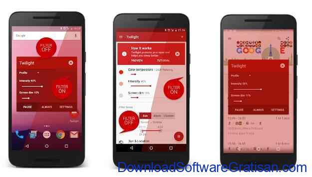 Aplikasi Pengatur Warna Layar Gratis Terbaik untuk Android Twilight