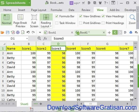 Alternatif Excel Terbaik - WPS Office Spreadsheets