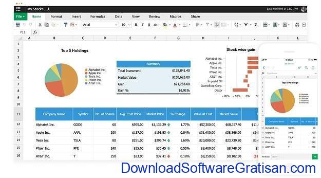 Alternatif Excel Terbaik - Zoho Sheets