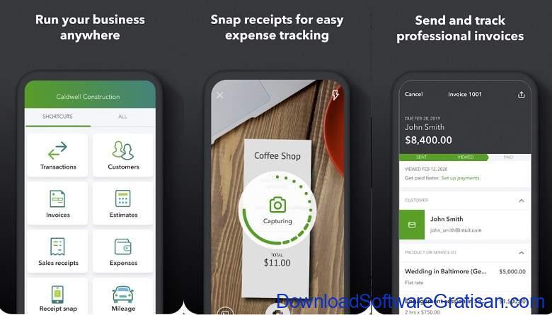 Aplikasi Akuntansi Android Terbaik QuickBooks Accounting