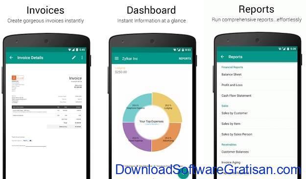 Aplikasi Akuntansi Android Terbaik Zoho Books