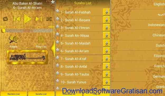 Aplikasi Al-Qur'an Gratis Terbaik untuk Android MP3 Quran