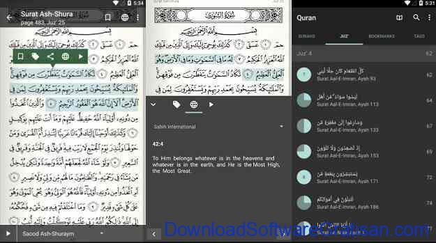 Aplikasi Al-Qur'an Gratis Terbaik untuk Android Quran for Android