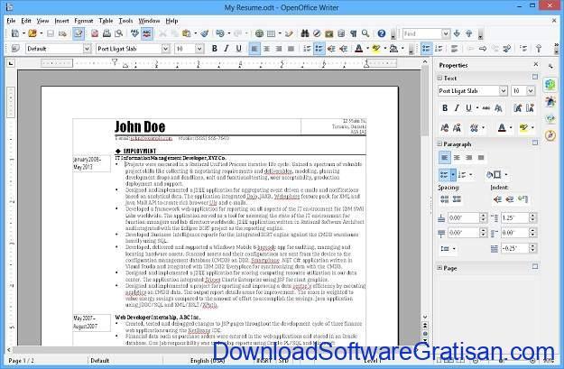 Aplikasi Alternatif Gratis Microsoft Word Gratis Terbaik Apache OpenOffice