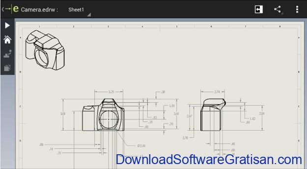 Aplikasi Autocad Android CAD eDrawings