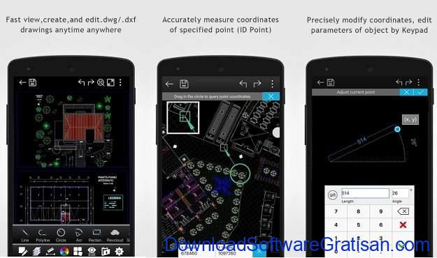 Aplikasi Autocad Android DWG FastView-CAD Viewer & Editor