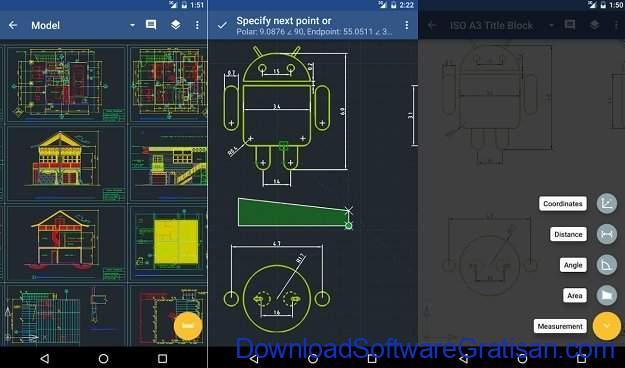 Aplikasi Autocad Android GnaCAD