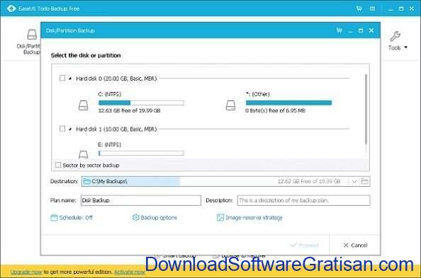 Aplikasi Backup Data Gratis Terbaik untuk PC EaseUS Todo Backup Free