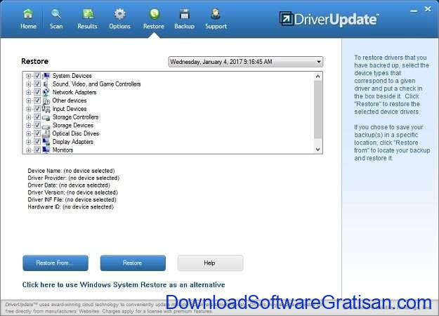 Aplikasi Backup Driver Gratis untuk Windows 10 SlimDrivers