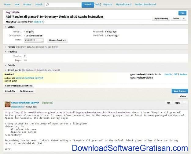 Aplikasi Bantuan Teknik (Help Desk) Gratis & Open Source Bugzilla