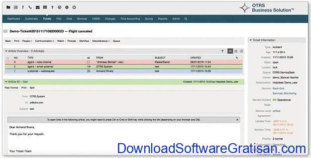 Aplikasi Bantuan Teknik (Help Desk) Gratis & Open Source OTRS Free