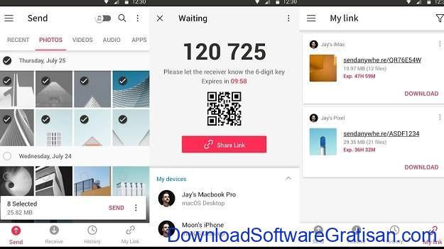 Aplikasi Berbagi File Terbaik untuk Android Send Anywhere