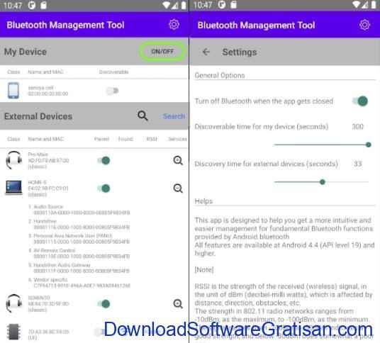 Aplikasi Bluetooth Android Gratis Terbaik Bluetooth Management Tool