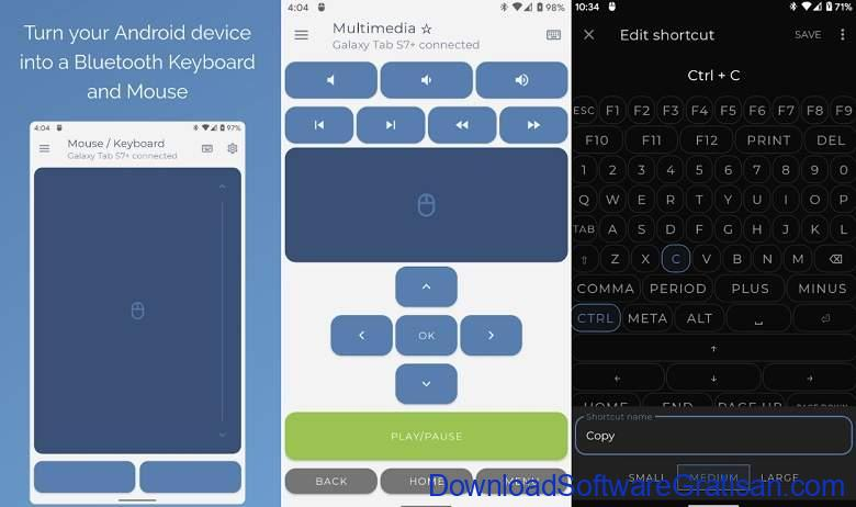 Aplikasi Bluetooth Android Gratis Terbaik Serverless Bluetooth Keyboard & Mouse for PC Phone
