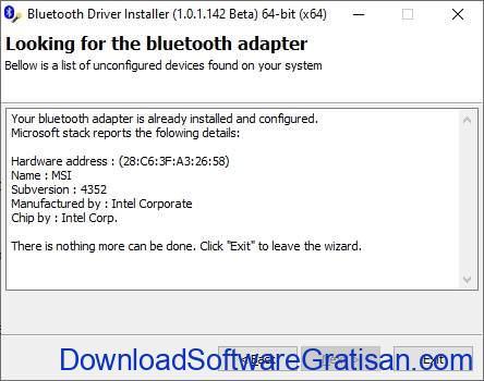 Aplikasi Bluetooth Gratis Terbaik PC - Bluetooth Driver Installer