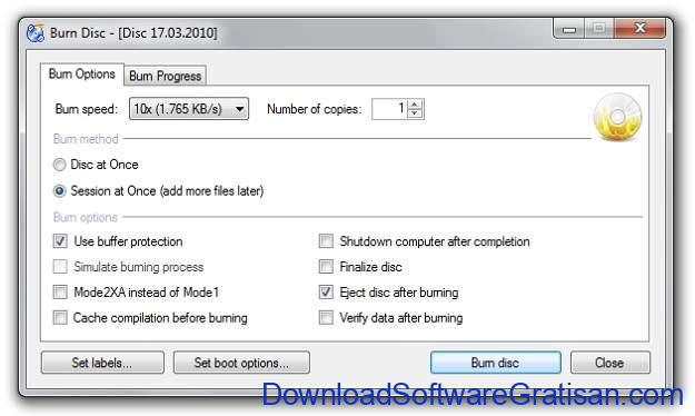 Aplikasi Burning CD DVD Gratis Terbaik - CDBurnerXP
